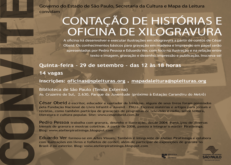 Oficina-Contação de Histórias e Xilogravura