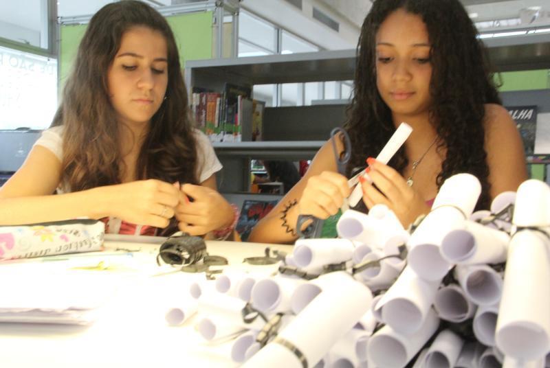 Estudantes na BSP
