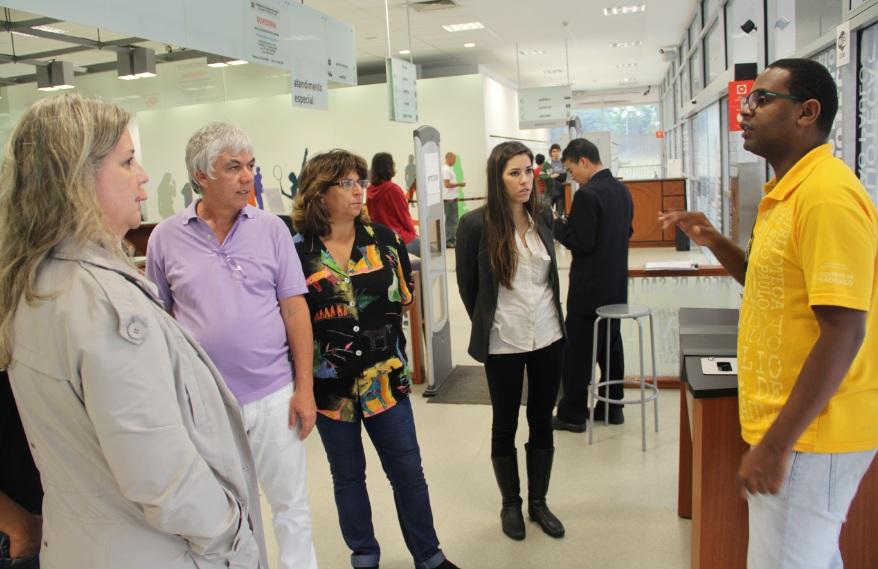 Visita de profissionais de Brasília