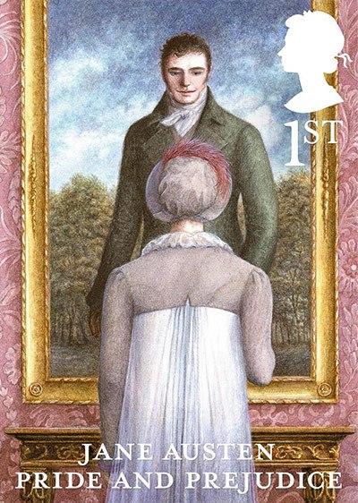 Jane Austen Pride and Prejudice 1st class stamp