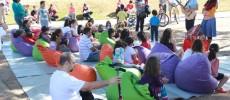 Contação de histórias com Marina Bastos e Thiago França, no Parque da Juventude.