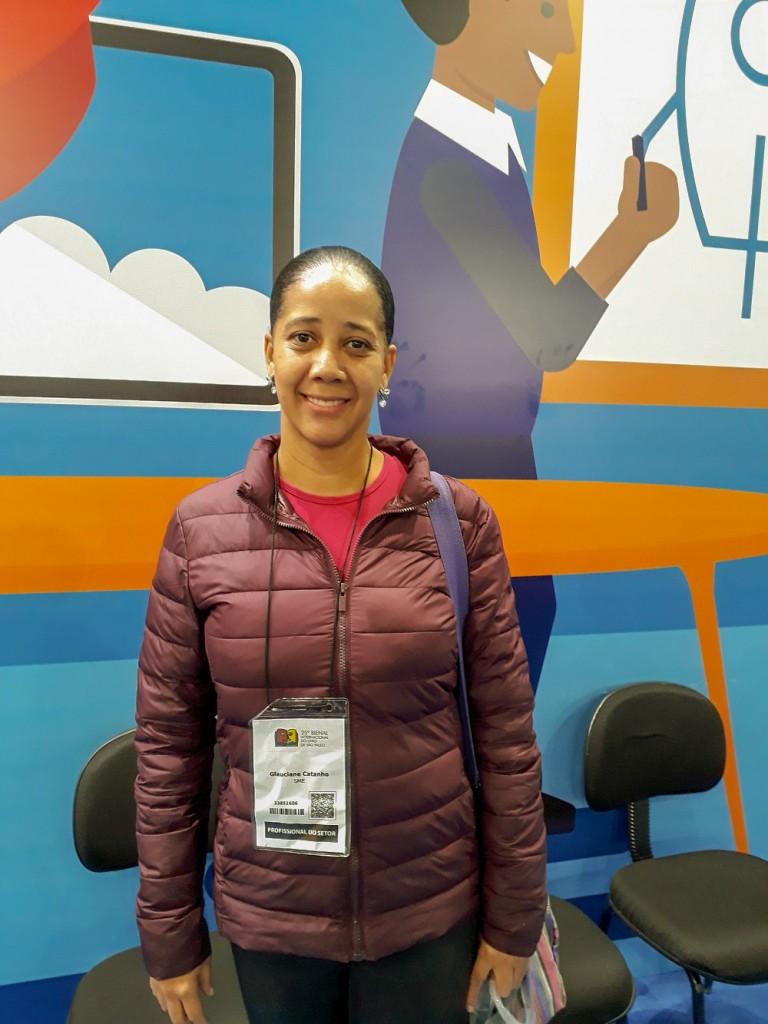 Glauciane Catanho, pedagoga e coordenadora pedagógica. Foto: Equipe SP Leituras.