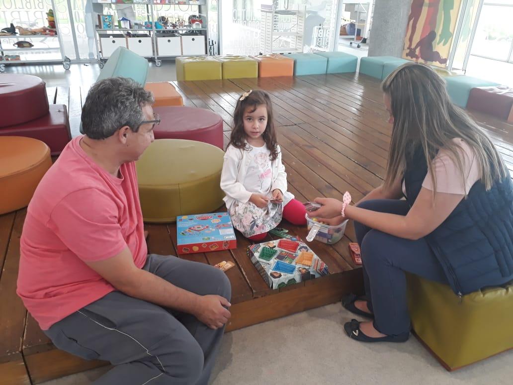 Ângelo, Sofia e Joyce. Foto: Equipe SP Leituras.