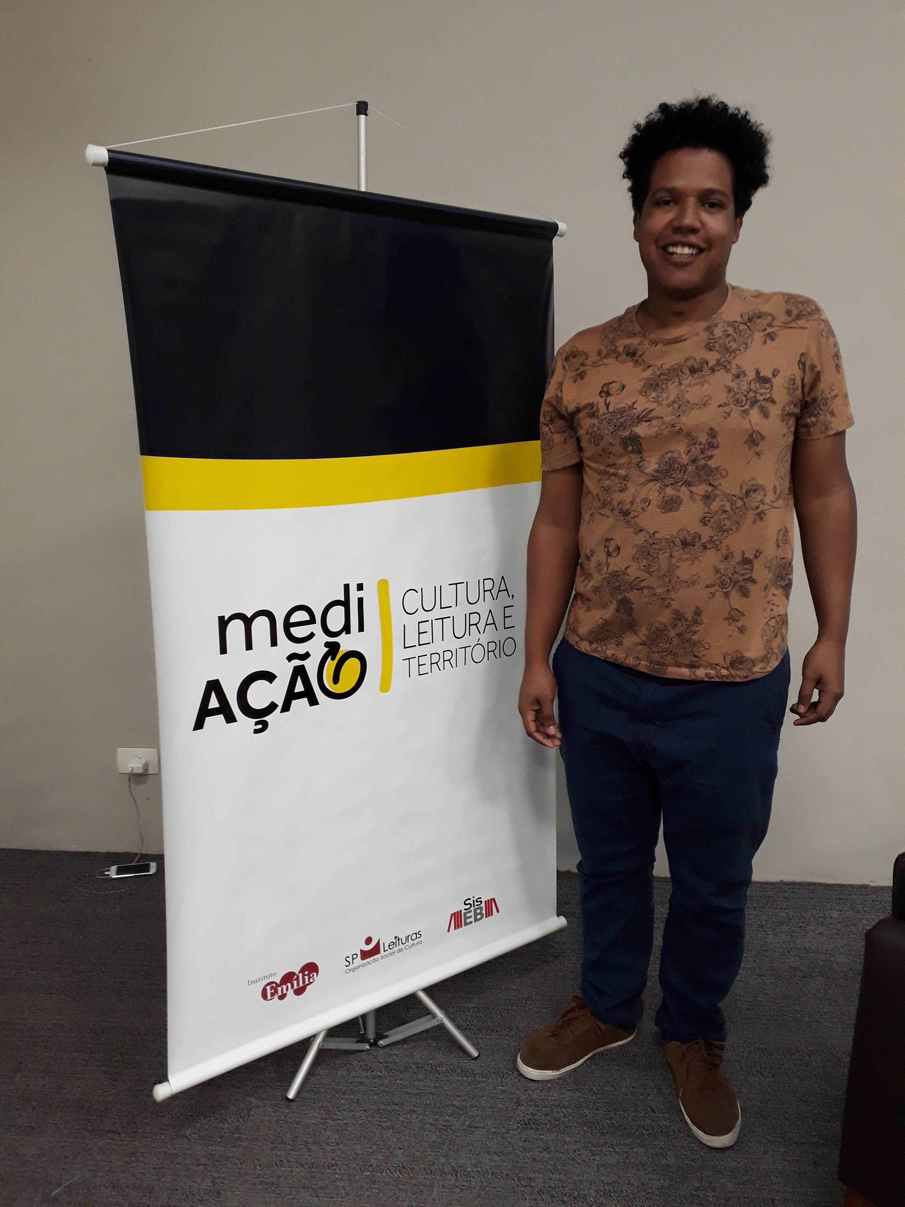 Ueliton Alves, da SP Escola de Arte . Foto: Equipe SP Leituras.
