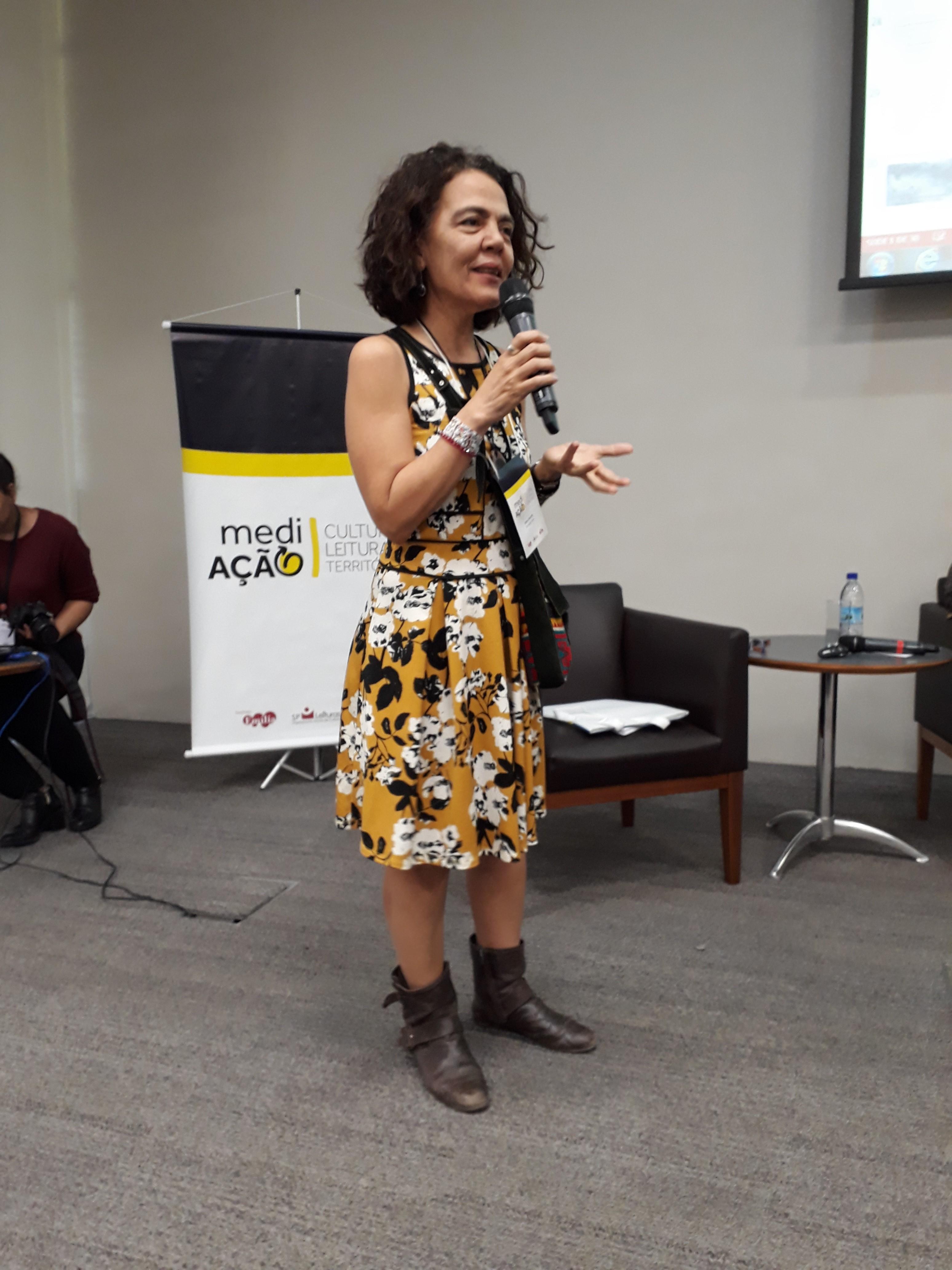 Vera Athayde, da OCA Escola Cultural. Foto: SP Leituras.