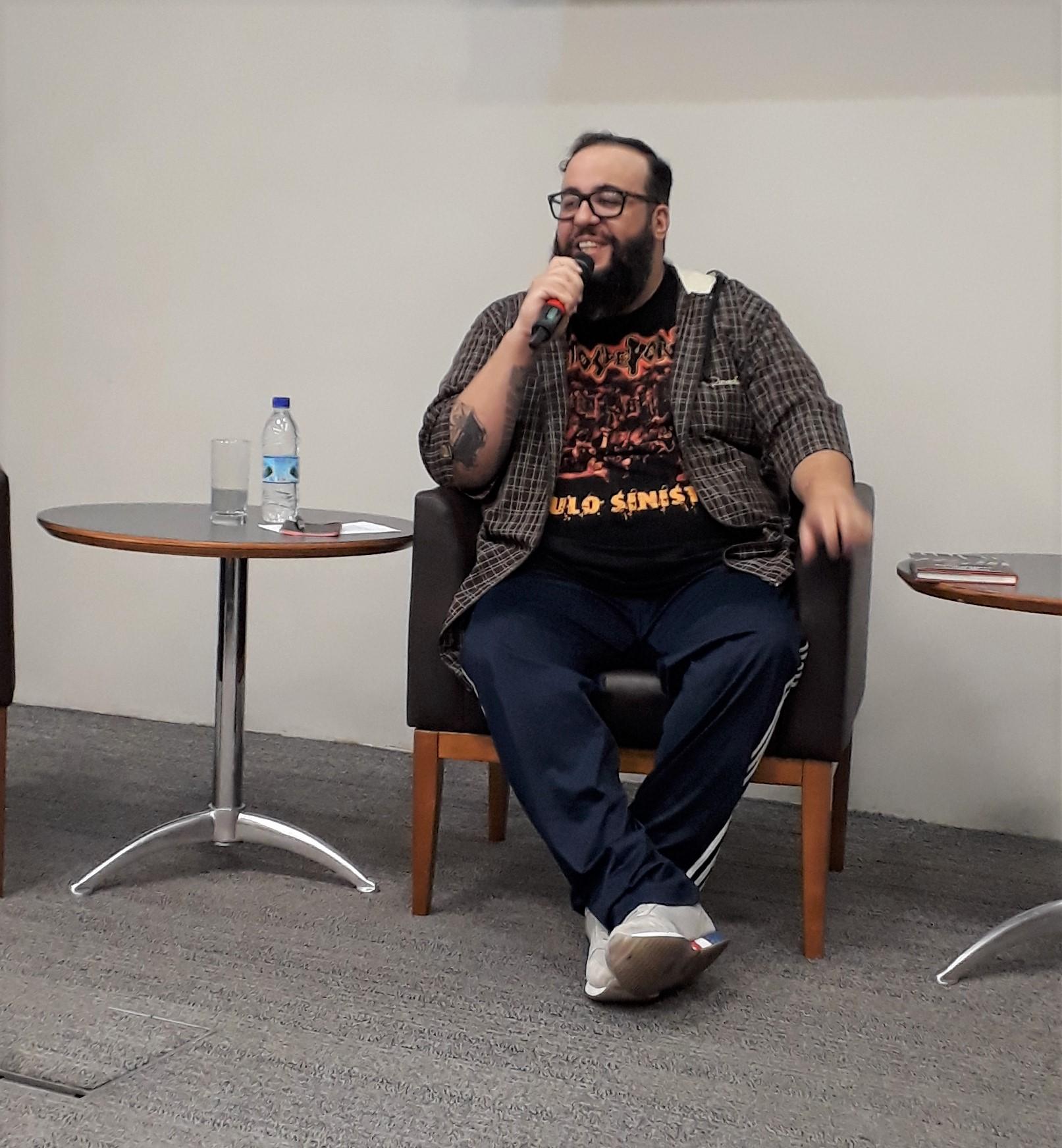 Escritor Ferréz. Foto: Equipe SP Leituras.