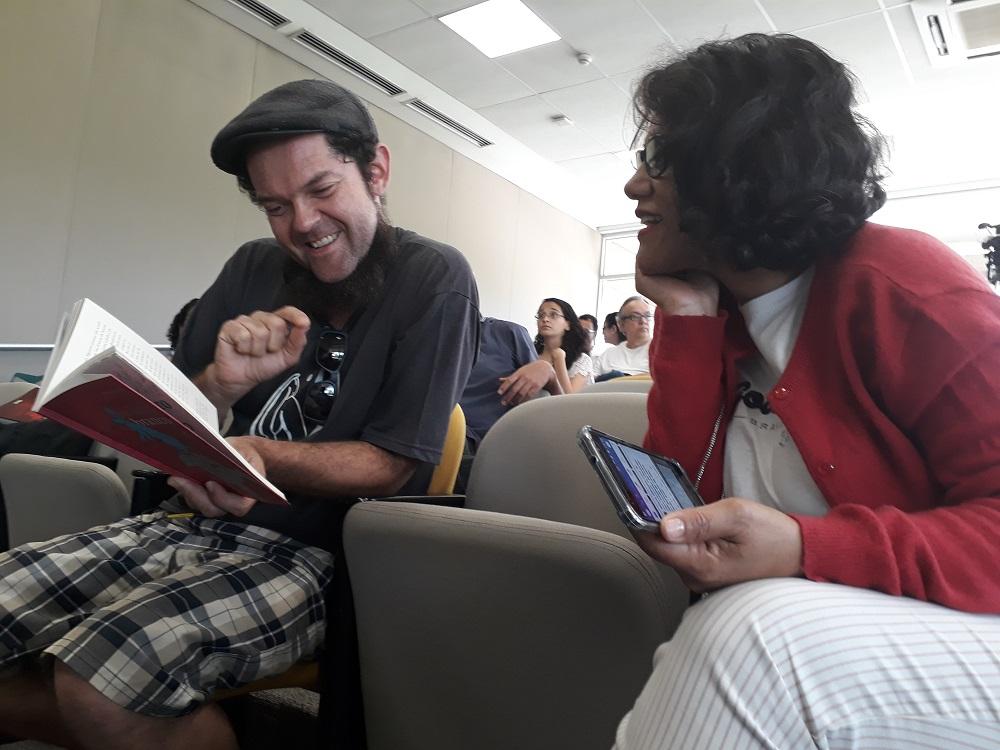 Rodrigo Almeida e Maria Oliveira. Foto: Equipe SP Leituras.