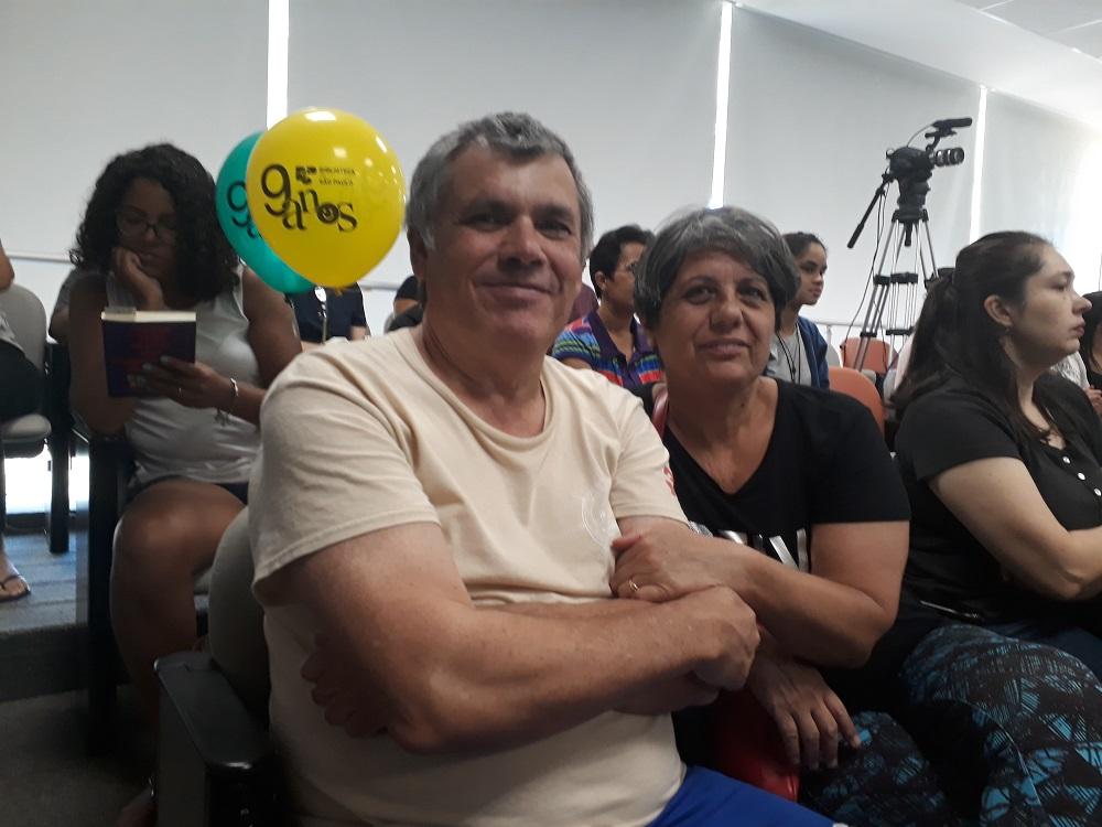 Gilberto e Ilma. Foto: Equipe SP Leituras.