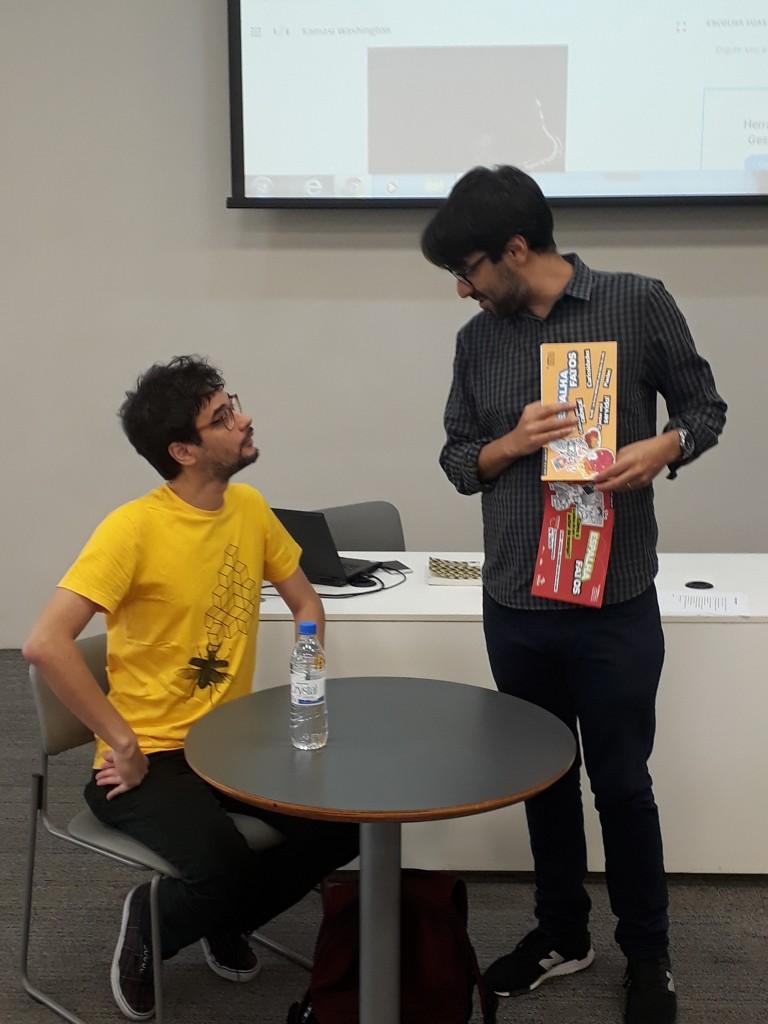 Cristhiano Aguiar e João Varella. Foto: Equipe SP Leituras.