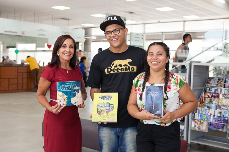 Regina Marcia, Edson Leite e Raquel Cassiano. Foto: Júnior Franzin.