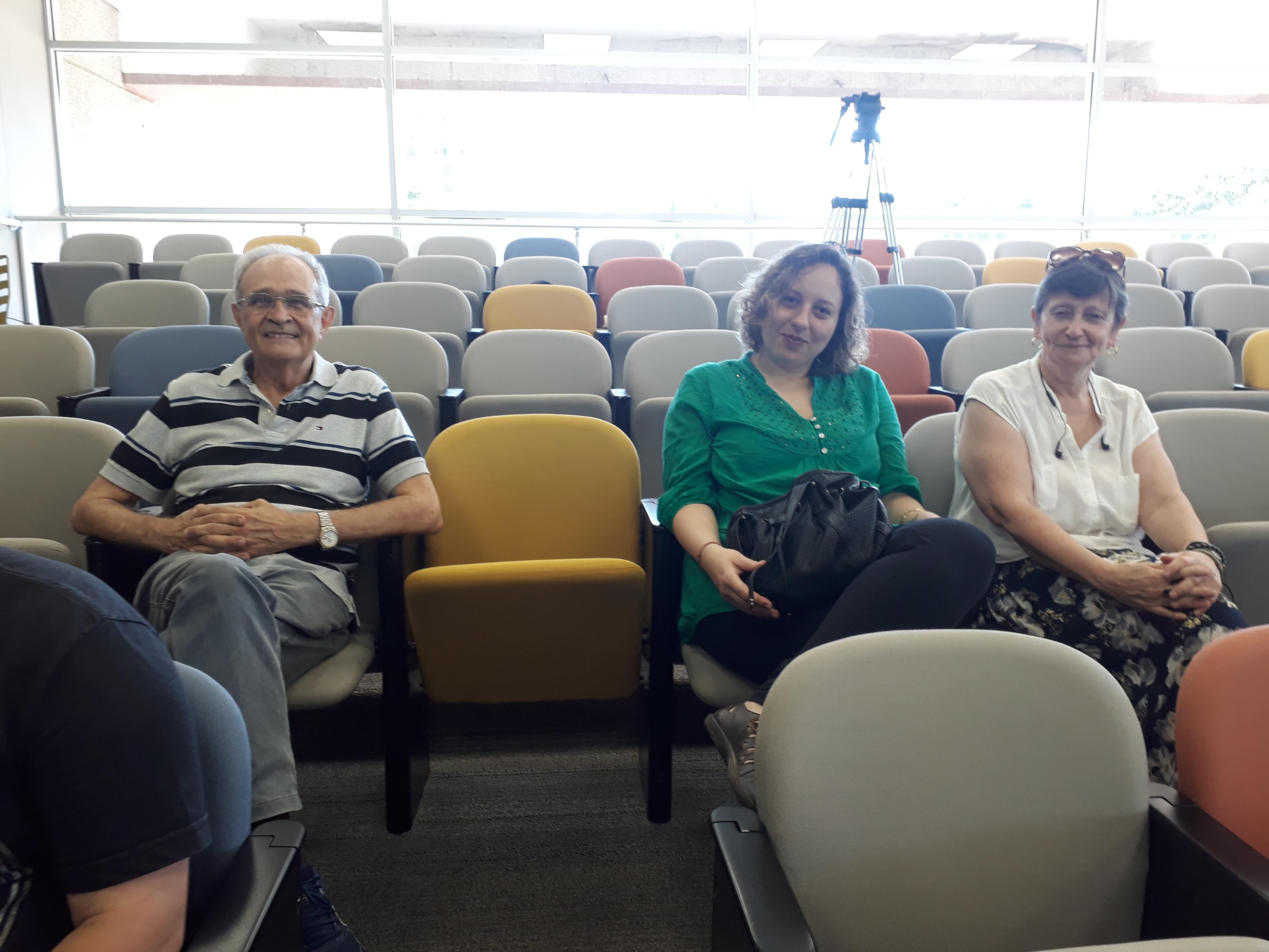 José Antônio, Maria Helena e Caroline. Foto: Equipe SP Leituras.