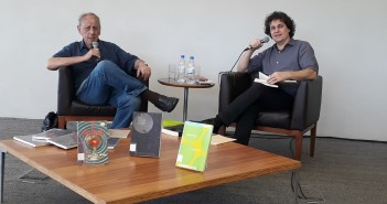 Claudio Willer e Manuel da Costa Pinto. Foto: Equipe SP Leituras.