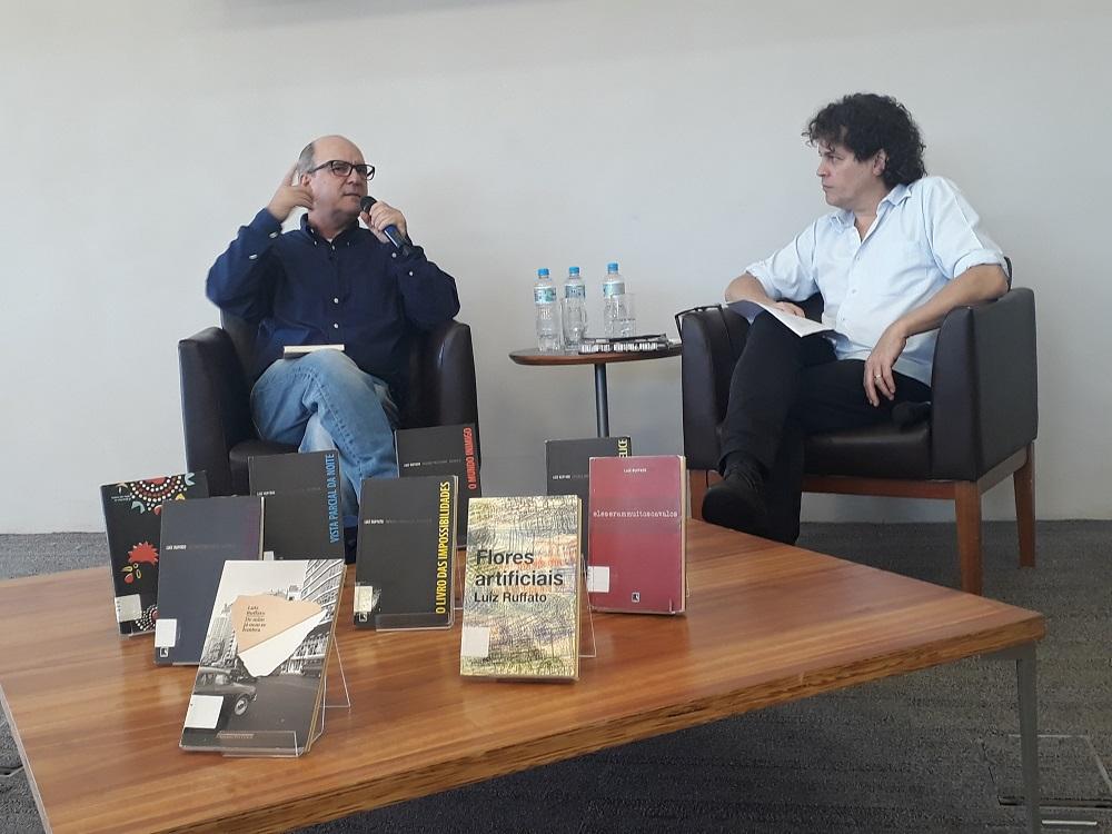 Luiz Ruffato e Manuel da Costa Pinto. Foto: Equipe SP Leituras.