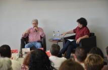 O escritor Frei Betto e o jornalista Manuel da Costa Pinto. Foto: Equipe SP Leituras