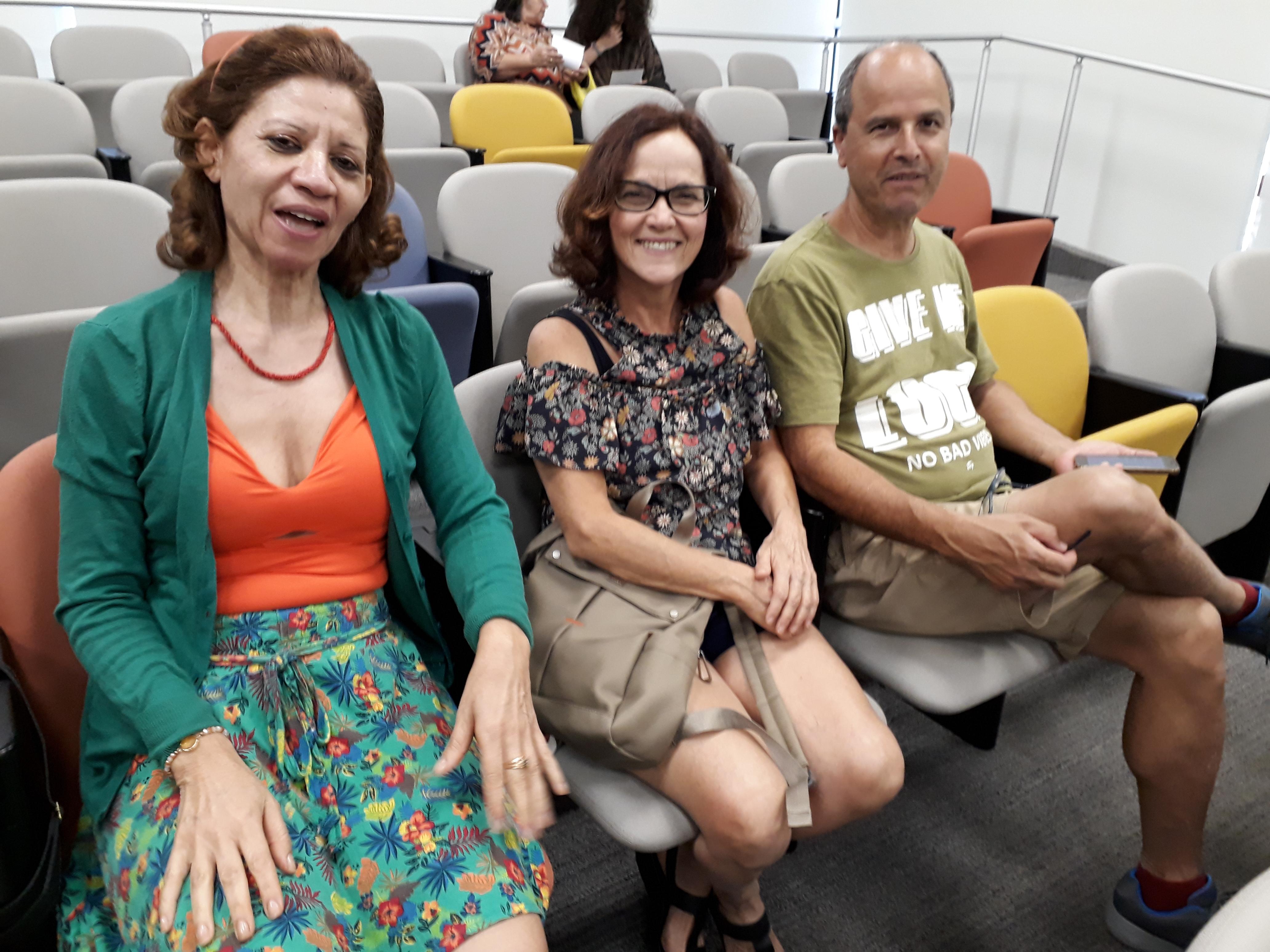Claudete, Giselda e Jaime. Foto: Equipe SP Leituras.