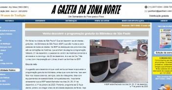 A Gazeta da Zona Norte / Reprodução.