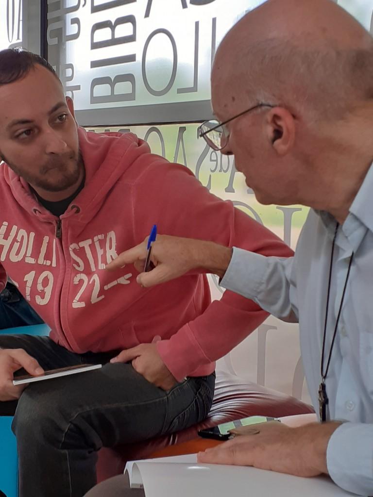 Felipe e Mequinho. Foto: Equipe SP Leituras.