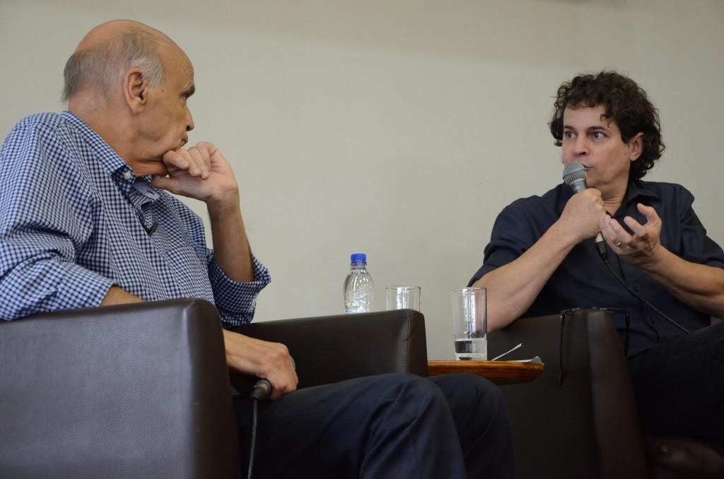 Drauzio Varella e Manuel da Costa Pinto em bate-papo especial no evento que comemorou 10 anos da BSP. Foto: Equipe SP Leitura