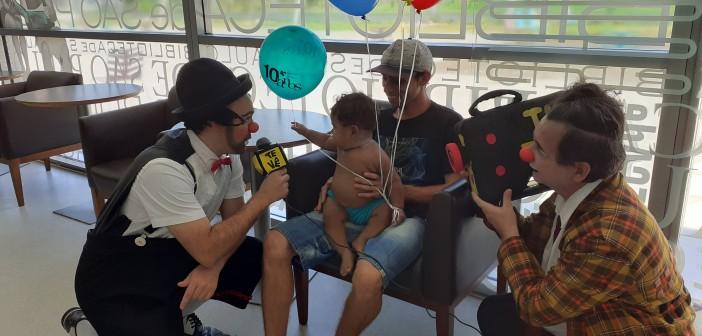 """#BSP10anos: os palhaços Jacinto e Sandoval fizeram a """"cobertura"""" da festa"""