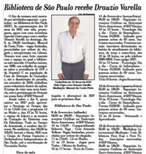 A Gazeta da Zona Norte / recorte / Reprodução.