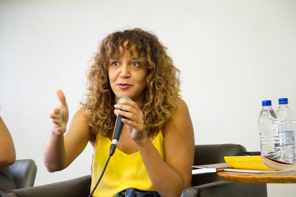 Roberta Estrela D'Alva participa de bate-papo especial na programação de aniversário de 10 anos da BSP. Foto: Paulo Matheus