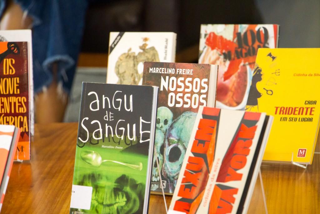 Os livros dos autores que participaram do bate-papo especial na programação de aniversário da BSP