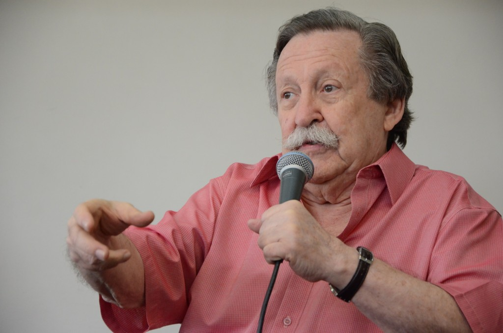 Pedro Bandeira foi personagem do Segundas Intenções especial de aniversário da BSP.  Foto: Equipe SP Leituras