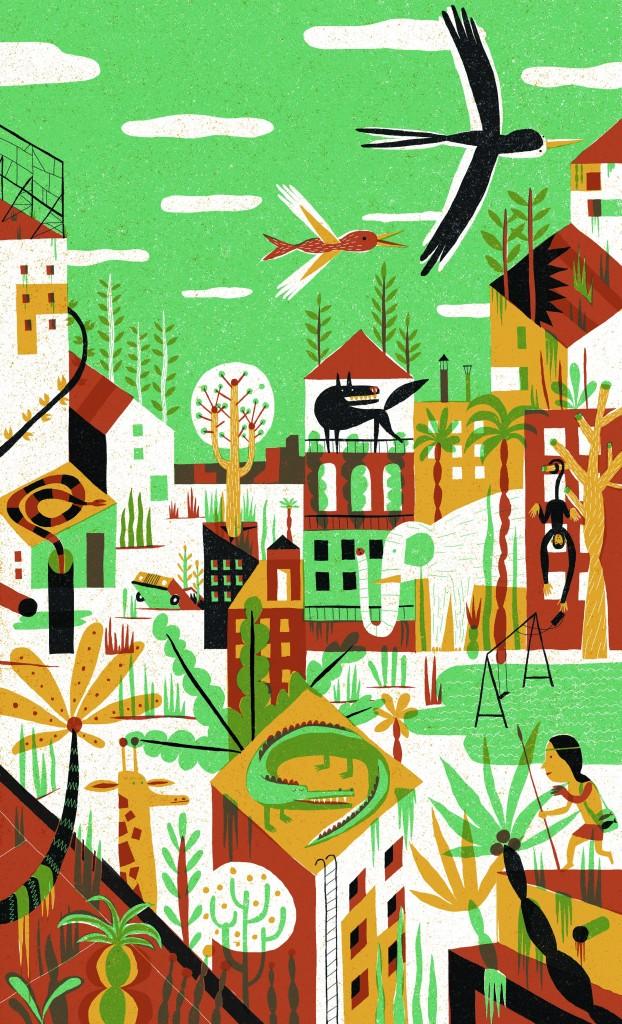 Joan Negrescolor La ciudad salvaje - Serie: La ciudad salvaje, 2013 A cidade selvagem - Série: A cidade selvagem  Digital 43 x 27 cm