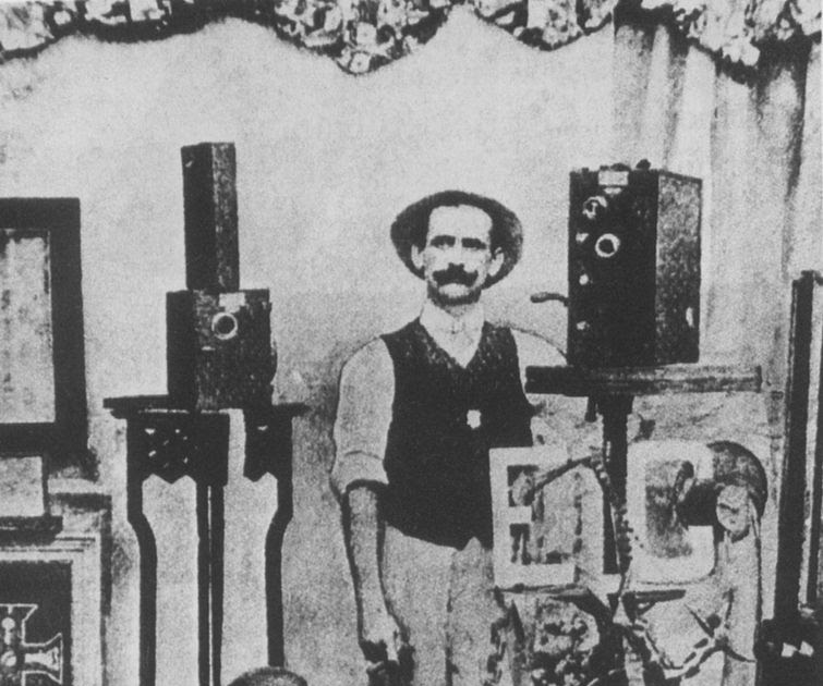 Affonso Segretto, que fez as imagens que são o marco do cinema brasileiro e marcam o Dia do Cinema Brasileiro. Foto: Reprodução