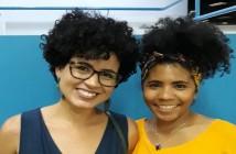 Carine de Souza e Juliane Sousa, do Coletivo Mulheres Negras na Biblioteca. Foto: Coletivo Mulheres Negras na Biblioteca.