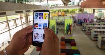 O acervo da BSP Digital pode ser acessado pelo site ou aplicativos,  e conta com mais de 1,4 mil títulos entre e-books e audiolivros. Foto: Equipe SP Leituras.