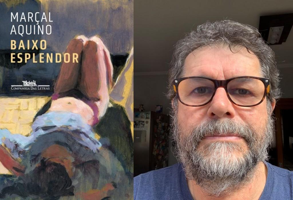Capa do livro e o autor Marçal Aquino (foto: Aline Schumann Aquino).